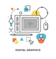 digital graphics concept vector image vector image