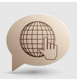 Earth Globe with cursor Brown gradient icon on vector image vector image