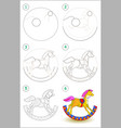 educational page for kids shows how to learn step vector image