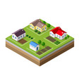 farm set of houses vector image