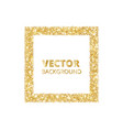 festive golden sparkle background glitter border vector image vector image