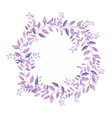 floral wreath isolated on white background vector image vector image