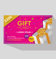 gift coupon discount sale price vector image