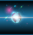 global and stars communication technology vector image vector image