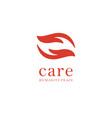 hand care logo design template care icon vector image