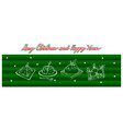 hand drawn of delicious traditional christmas pudd vector image vector image