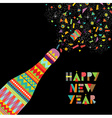 Happy new year fun design of party celebration vector image vector image
