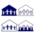 house with family symbols vector image vector image