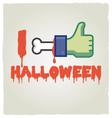 i like halloween vector image