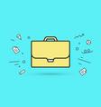 icon briefcase vector image vector image