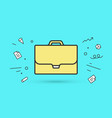 icon of briefcase vector image vector image
