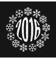 Inscription 2016 in the ring of snowflakes vector image vector image
