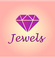 isolated brilliant icon jewel element can vector image