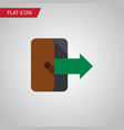 isolated exit flat icon directional vector image