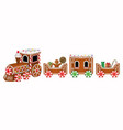 isolated gingerbread train vector image vector image