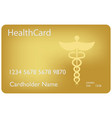 medical insurance card medical service concept vector image vector image