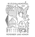 memorial day design concept vector image vector image