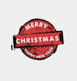 merry christmas and happy new year stamp vector image vector image