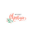 merry christmas background watercolor vector image