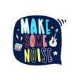 music icons print design with slogan vector image vector image
