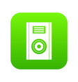 music speaker icon digital green vector image