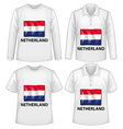 Netherland shirts vector image vector image