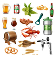 Oktoberfest Beer Icons Collection vector image vector image