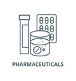pharmaceuticals line icon linear concept vector image vector image