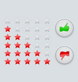 rating stars interface element vector image