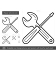 Repair service line icon vector image vector image