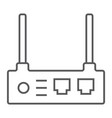 router thin line icon internet and connection vector image vector image