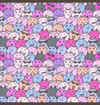 seamless pattern with lovely bunny background vector image vector image