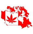 sign with marijuana leaf vector image