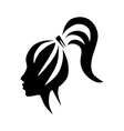 silhouette beautiful woman vector image vector image