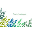 simple background from color leaves vector image