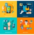 Smart technology set vector image vector image