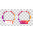 social media live video streaming icon mockup vector image vector image