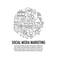 social media marketing template vector image vector image