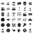 stressed emotion icons set simple style vector image vector image