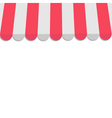 Striped store awning for shop marketplace cafe and vector image vector image