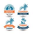 Summer label 3 vector image vector image