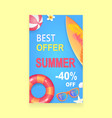 summer sale banner promotion leaflet sample vector image vector image