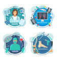 surgery therapy and rheumatology medicine icon vector image vector image