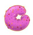 sweet donut font letter g cartoon vector image vector image