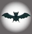 the bat on a gloomy gradient background vector image vector image