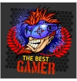 The Best Gamer - T-Shirt Design vector image vector image