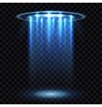 UFO light beam aliens futuristic spacecraft vector image vector image
