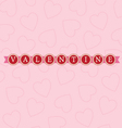 valentine word circles bright vector image vector image