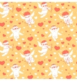 Valentines Day romantic seamless pattern with cute vector image vector image