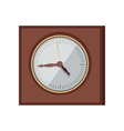 Wall Clock in Flat Design vector image